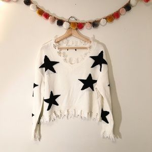 Sweaters - Distressed Star Sweater